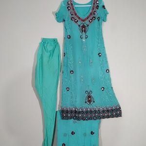 Dresses & Skirts - 3 piece party wear Georgette Shalwar kameez